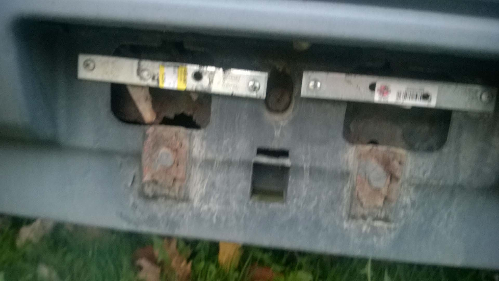 Potential CRX #5 - Damanged License Plate Bracket