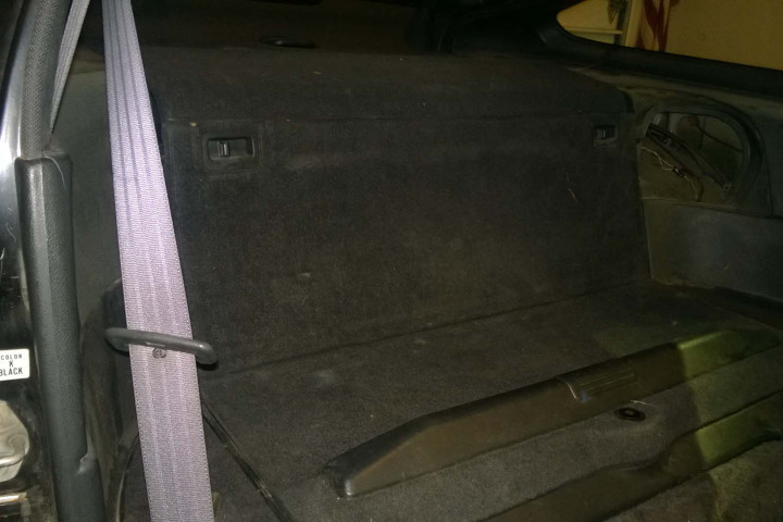 Rear Shelf and Divider Reassembled