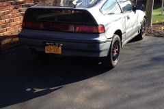 CRX with NY License Plate