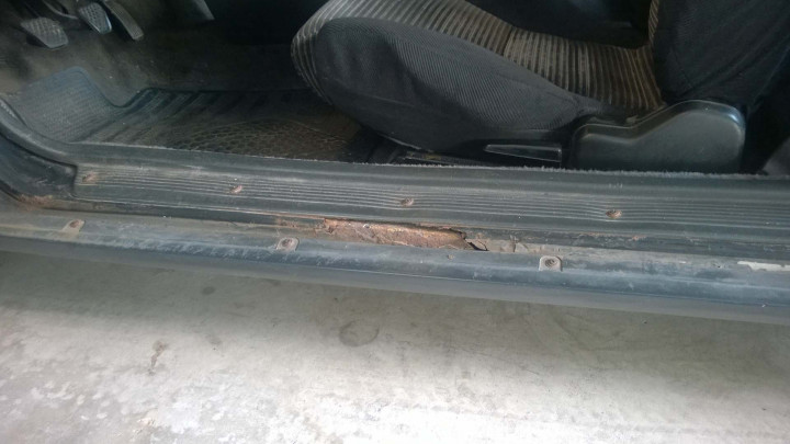 Rust on the Driver's Side Rocker Panel