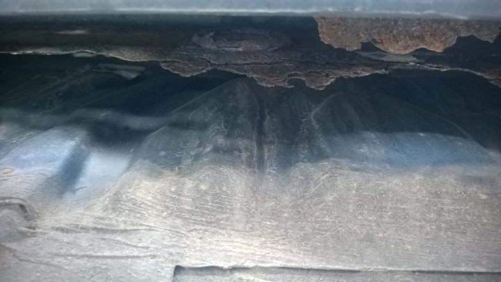 Rust on the Rear Bumper