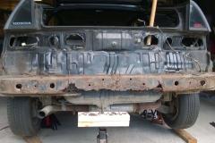 Bumper Cover Removed, Rusted Rear Bumper