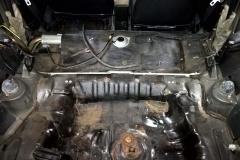 Rust on the Rear Floor Pan