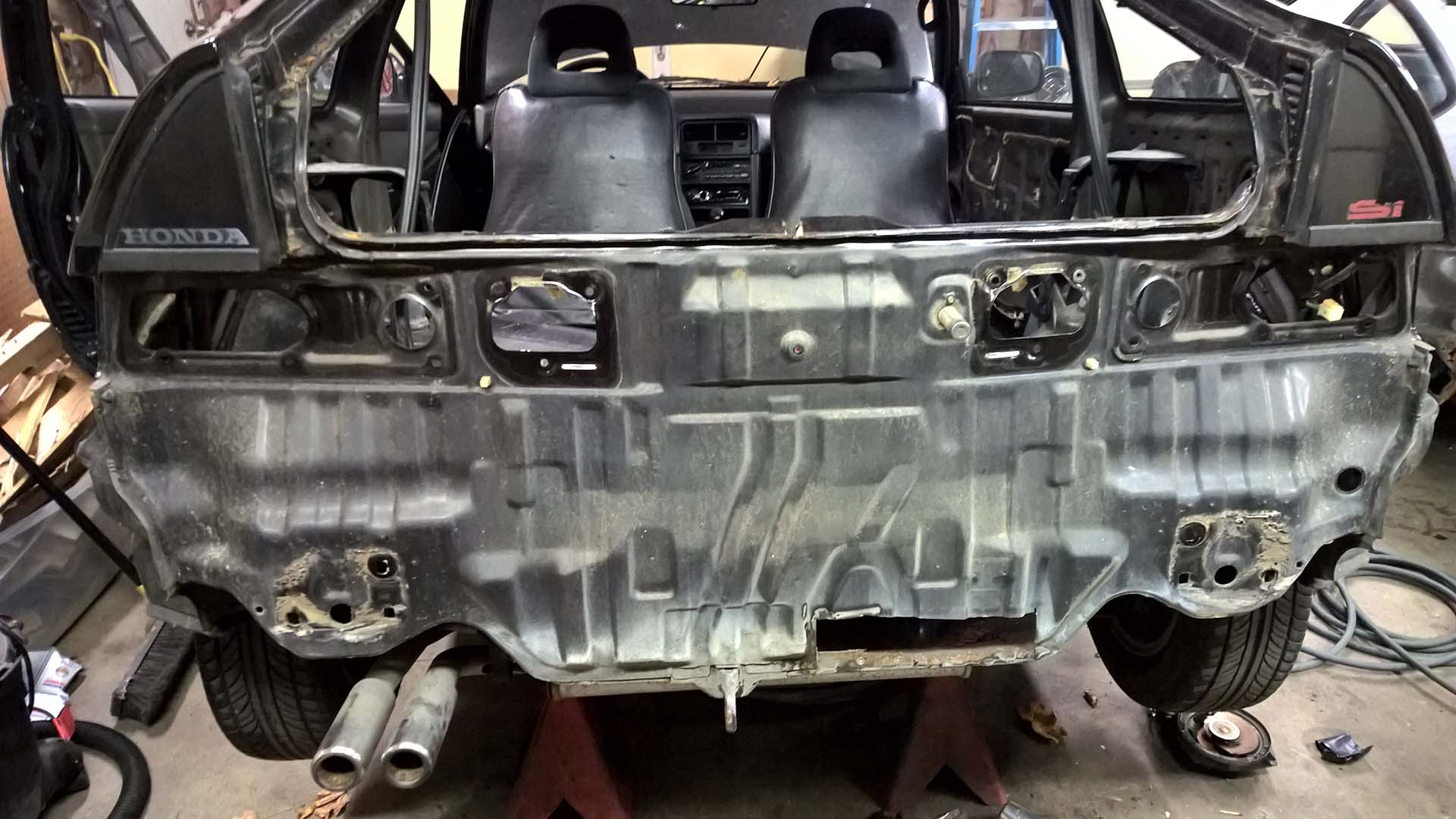 Rust Removed from the Rear Panel