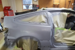 Primer on the Passenger Side Quarter Panel