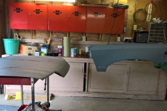 Hood and Passenger Fender in Primer
