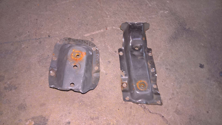 Driver Seat Brackets Removed from the Donor Car