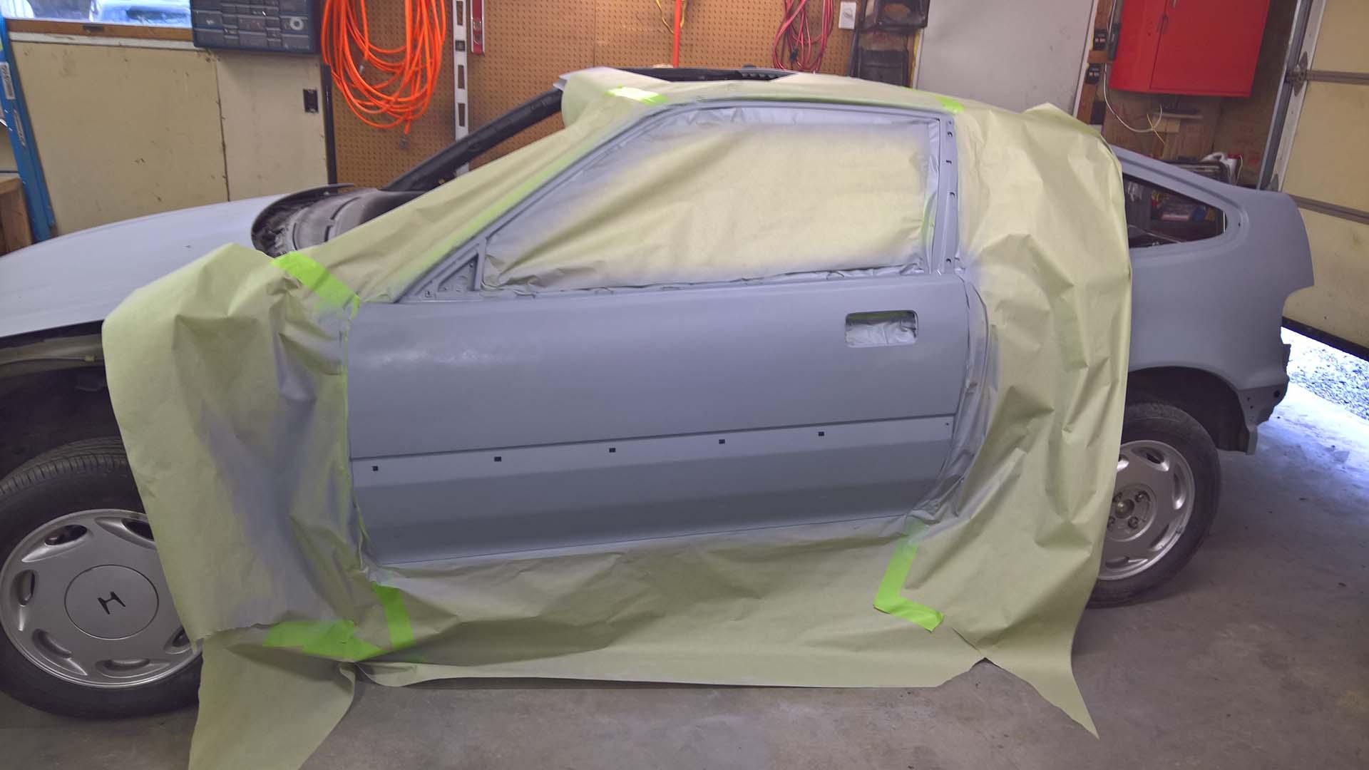 Second Coat of Primer Applied to Driver's Side Door