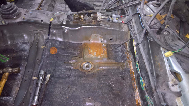 First Seat Anchor Removed