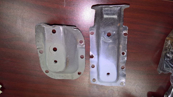 Refinished Seat Anchors from Donor Car