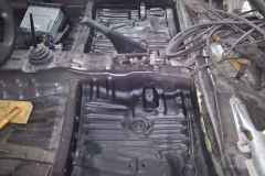 Undercoated Floor Pan