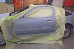 Second Coat of Primer Applied to Driver's Side Door