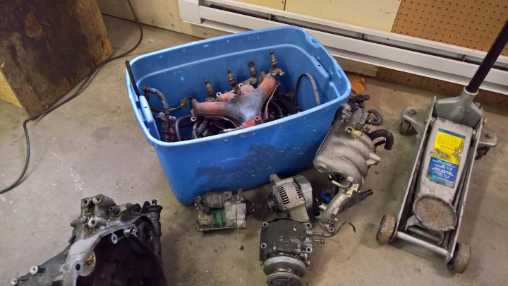 Additional Components Removed from the Engine