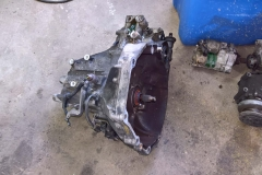 Transmission Separated from Engine Block