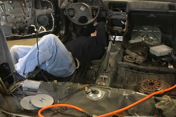 Jimmy Removing the Break Booster
