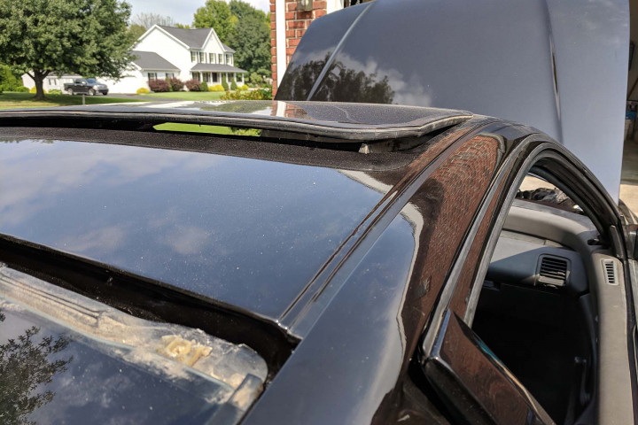 Roof Weather Stripping Installed