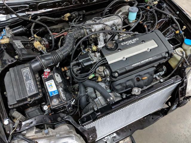 Engine and Radiator Installed