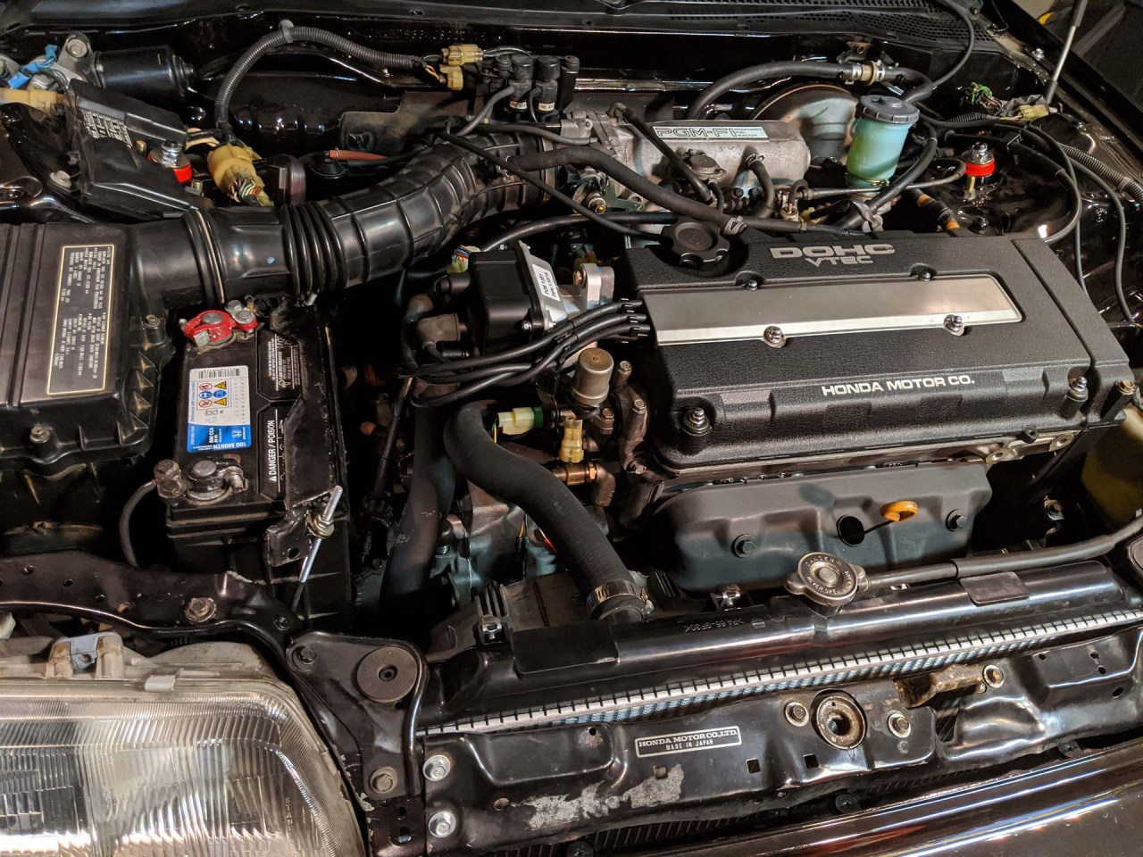 Honda B16A SiR Engine in the 1988 Honda CRX