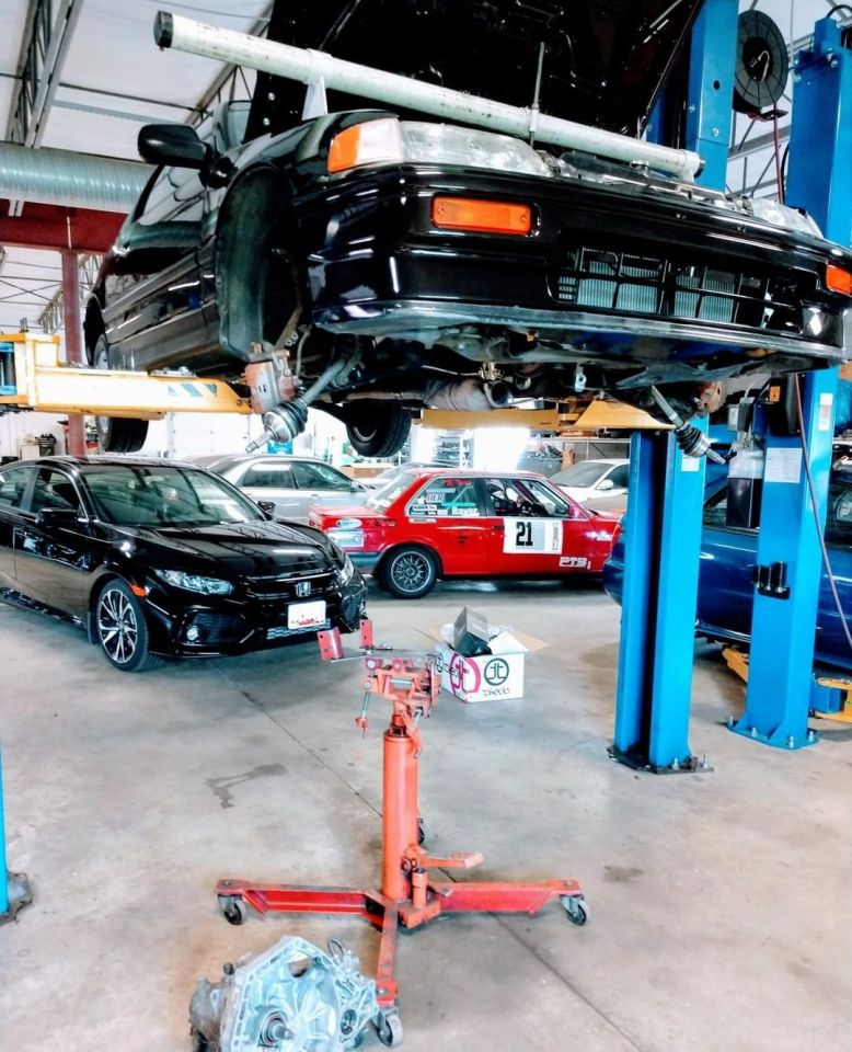 Transmission removed at Agile Automotive