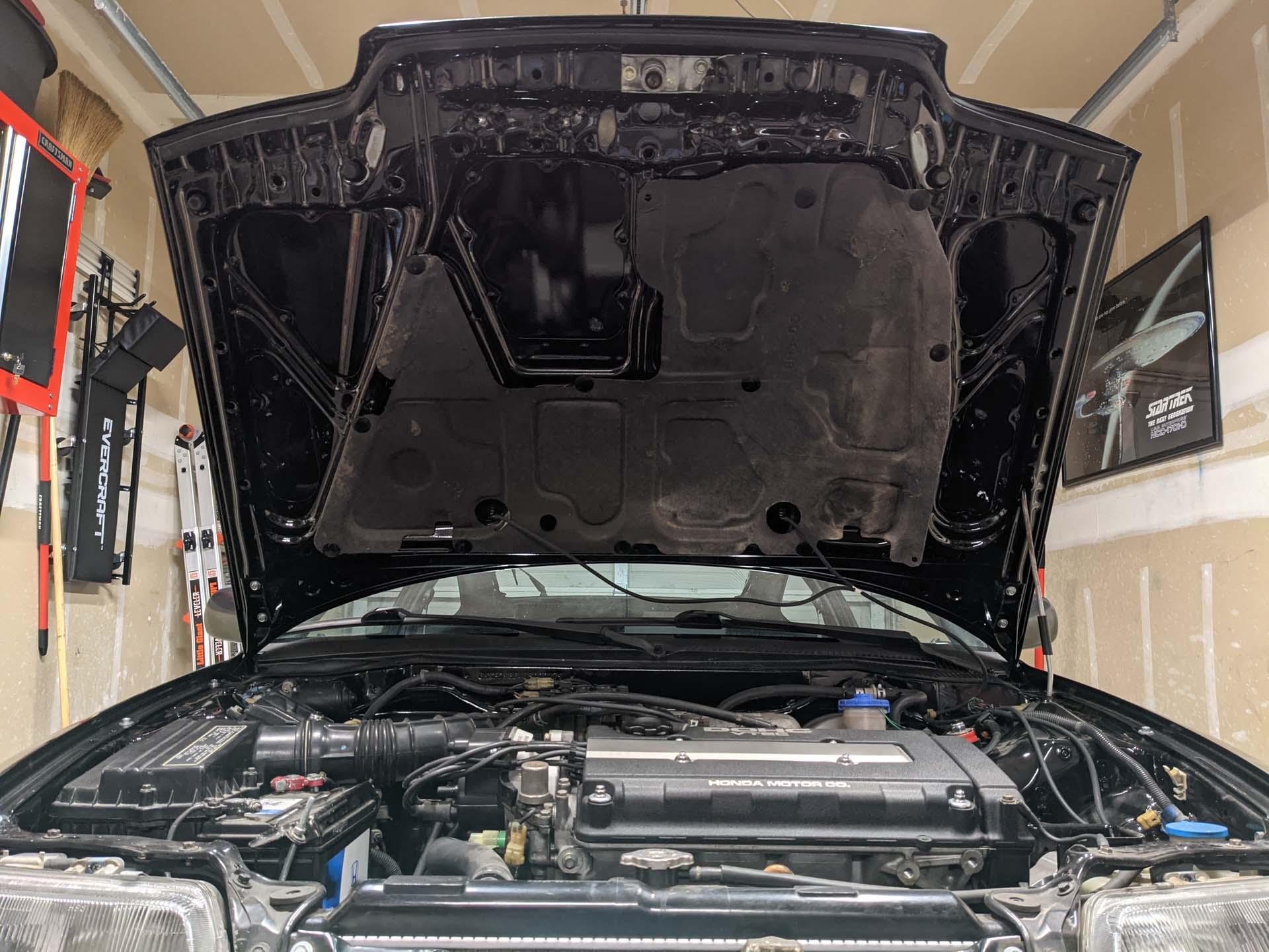 Replacement hood insulator