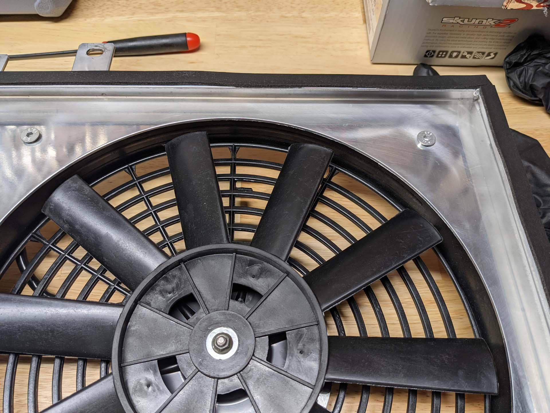 Molding around the fan shroud